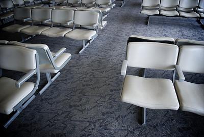 椅子,空的,机场,等候室,公车站,机场出发区,留白,水平画幅,无人,商务旅行