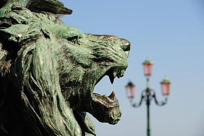 人的头部,狮子,铜,雕像,圣马可广场,纪念碑,灵性,古老的,动物身体部位,过去