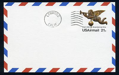 航空邮件,明信片,200周年,大天使迦百利,小天使,风标,留白,美国,水平画幅,天使