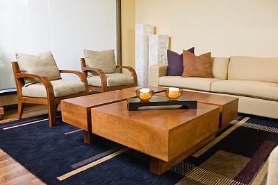 起居室,茶几,新的,水平画幅,无人,椅子,地毯,家具,现代,沙发