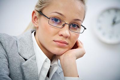 商务,女人,顾客,仅成年人,眼镜,现代,工业,青年人,白色,专业人员