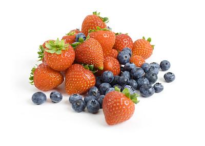 草莓,蓝莓,饮食,水平画幅,小的,水果,无人,蓝色,浆果,有机食品