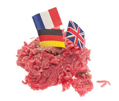 欧洲,肉馅面包,酥炸鱼,多香果粉,肉末,美,水平画幅,食品杂货,无人,生食