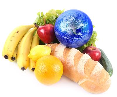 地球,水平画幅,橙色,无人,白色背景,背景分离,饥饿的,橙子,影棚拍摄