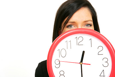 女人,挂钟,在之后,红色,宵禁时间,时针,留白,30岁到34岁,钟,仅成年人