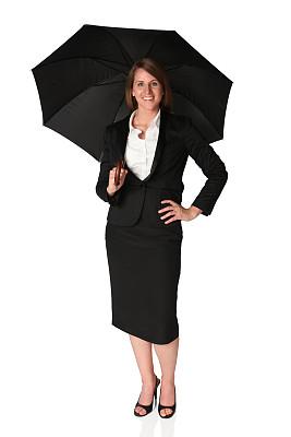 伞,在下面,女商人,平衡折角灯,垂直画幅,正面视角,套装,安全,仅成年人,想法