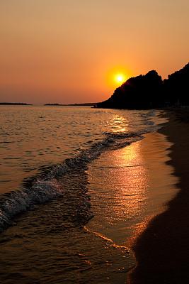 海洋,在上面,不明确的地点,垂直画幅,水,天空,夜晚,无人,夏天,明亮