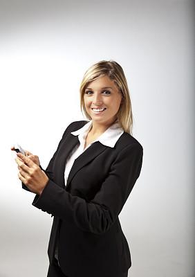 青年人,女商人,手机,垂直画幅,美,电话机,美人,套装,白人,图像