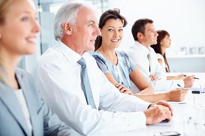 女商人,30到39岁,水平画幅,电话会议,会议,人群,白人,男商人,新创企业,男性