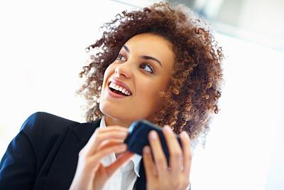 女商人,手机,美,水平画幅,美人,新创企业,图像,经理,仅成年人