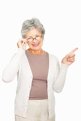 眼镜,女人,垂直画幅,白人,仅成年人,友谊,白色,专业人员,看,信心