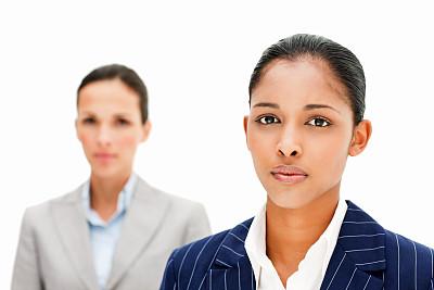 女商人,认真的,分离着色,面部表情,30到39岁,女人,面无表情,水平画幅,注视镜头,套装