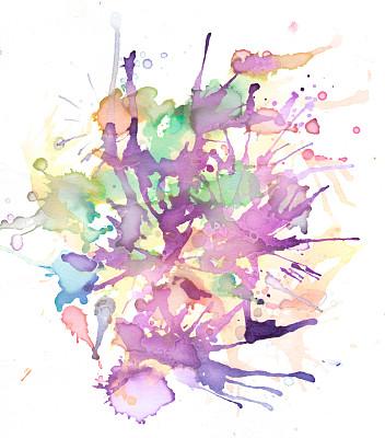 水彩画,垂直画幅,绘画作品,艺术,绘画艺术品,无人,抽象,水彩颜料,设计元素,美术工艺