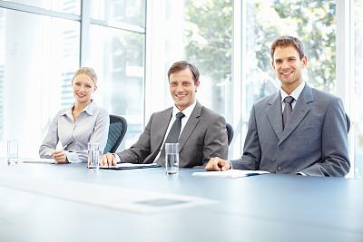 商务会议,水,水平画幅,注视镜头,会议,人群,套装,男商人,男性,仅成年人