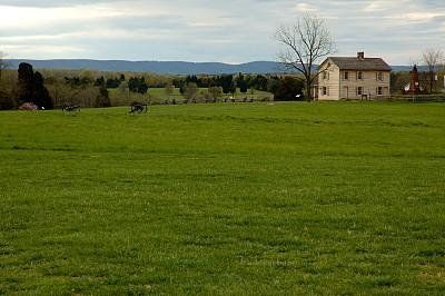 房屋,马纳萨斯,炮,天空,公园,水平画幅,无人,夏天,草