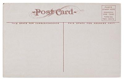 古典式,明信片,空白的,分离着色,白色,20世纪风格,留白,水平画幅,风化的,消息