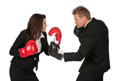 拳击手套,商务人士,挑战姿态,水平画幅,套装,白人,男商人,男性,仅成年人,想法