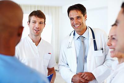 健康保健,团队,美,30到39岁,水平画幅,美人,白人,非裔美国人,男性