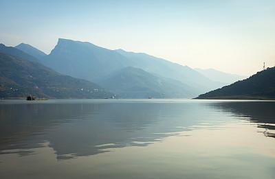长江三峡,自然美,湖北省,长江,自然,水,美,宁静,水平画幅,黄昏