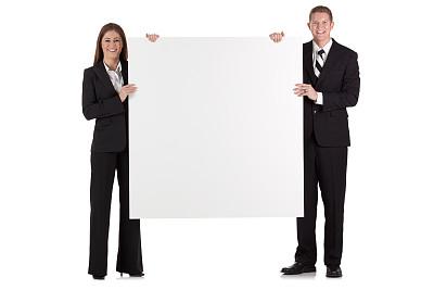 布告,商务,拿着,异性恋,正面视角,留白,水平画幅,注视镜头,套装,高跟鞋