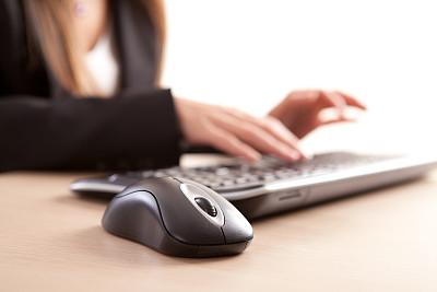 鼠标,办公室,选择对焦,留白,水平画幅,长发,部分,彩色图片,技术,成品