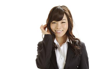 女人,幸福,留白,服务业职位,仅成年人,现代,青年人,白色,彩色图片,技术