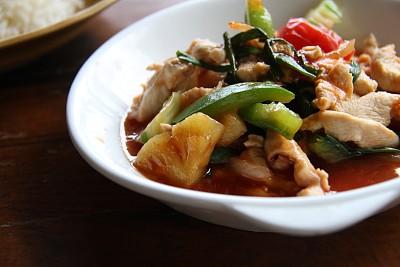 咕噜鸡,咕噜菜,饮食,胡萝卜,水平画幅,无人,膳食,西红柿,开胃酱,盘子