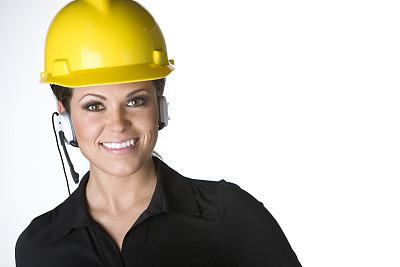 建筑师,女性,美,建筑承包商,半身像,水平画幅,电话机,美人,套装,安全帽