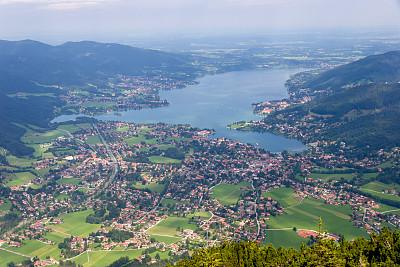提根湖,面向陆地,地名,水平画幅,高视角,无人,湖,上巴伐利亚,巴伐利亚,阿尔卑斯山脉