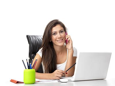 计算机,书桌,办公室,女商人,领导能力,电子邮件,图像,仅成年人,网上冲浪,青年人