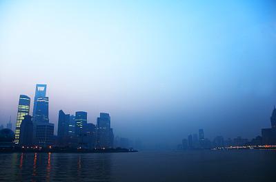 上海,上海环球金融中心,长江,东方明珠塔,黄浦江,陆家嘴,浦东,纪念碑,水平画幅,夜晚