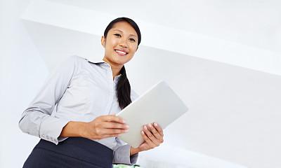 留白,信心,顾客,办公室,美,水平画幅,注视镜头,电子邮件,美人,仅成年人