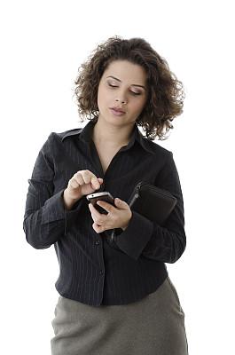 电话机,女商人,白色,分离着色,垂直画幅,美,半身像,智慧,美人,人的嘴