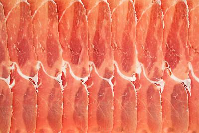 意大利熏火腿,背景,式样,饮食,褐色,水平画幅,无人,正上方视角,特写,肉