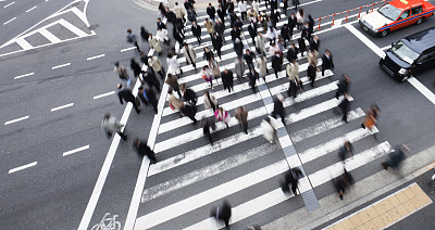 斑马线,人行横道,水平画幅,高视角,斑马,忙碌,交通,早晨,户外,男商人
