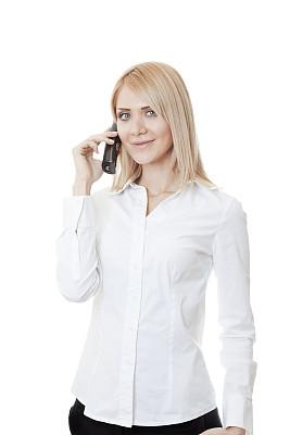 女商人,垂直画幅,美,电话机,美人,白人,仅成年人,白色,看,成年的