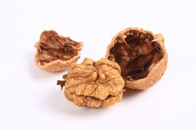 胡桃,美洲山核桃,自然,褐色,水平画幅,甜玉米,无人,外壳,维生素,背景分离