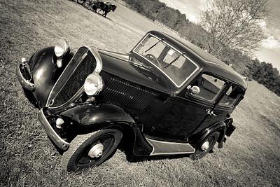 古典式,汽车,意大利,黑白图片,图像,文件管理,老爷车,古董车,古董,水平画幅