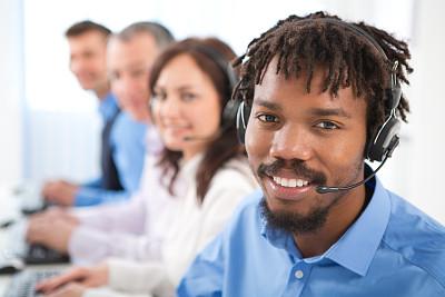 人群,外包,呼叫中心,免提装置,服务业职位,男商人,男性,专业人员,录音设备,放音设备