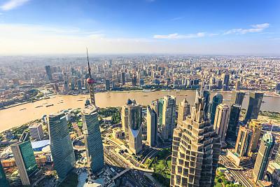 上海,金茂大厦,上海环球金融中心,柏林电视塔,东方明珠塔,黄浦江,黄浦区,陆家嘴,浦东,天空