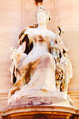 亚历山大三世桥,巴黎,大特写,新艺术主义,右岸,垂直画幅,纪念碑,旅游目的地,无人,城市生活