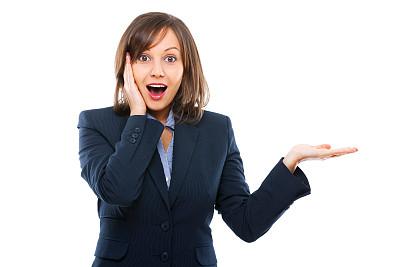 女商人,正面视角,美,留白,水平画幅,注视镜头,手势语,美人,秘书,白人