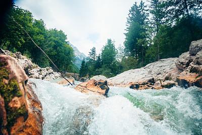 山,河流,索卡河,自然,水,寒冷,非都市风光,水平画幅,地形,岩石