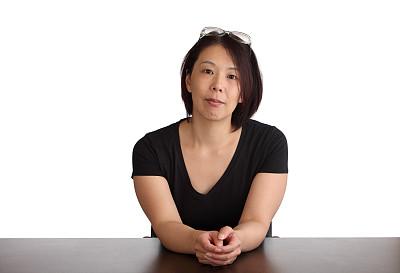 女人,书桌,等,中年女人,背景分离,朝鲜半岛,日本人,仅女人,注视镜头,日本