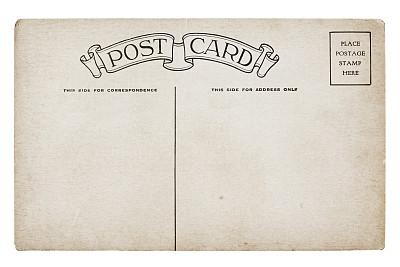 留白,古典式,明信片,大量物体,空白的,20世纪风格,水平画幅,风化的,消息,无人