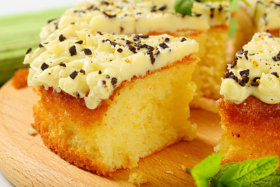蛋糕,柠檬,糖衣,水平画幅,无人,香草兰,烘焙糕点,家庭生活,果汁,甜点心