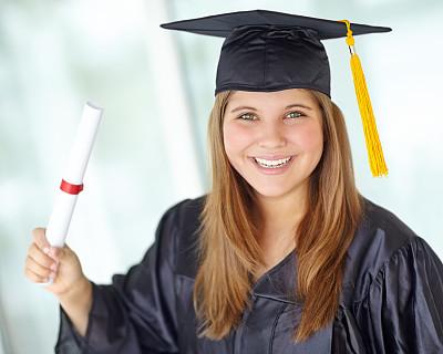 采矿业,毕业礼服,学位帽,穗,青少年,留白,仅成年人,长发,知识,青年人