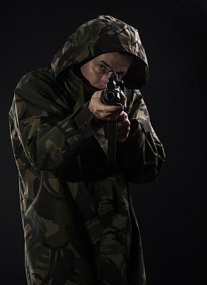 制服帽,狙击手,盔甲服,贴身保镖,正面视角,伪装色,制服,安全,男性,仅男人