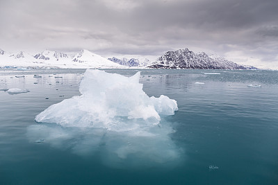 斯瓦尔巴德群岛,冰河,冰,北极,北极点,北冰洋,斯匹兹卑尔根,水,水平画幅,无人