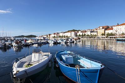海港,克罗地亚,船,姆斯堂自治区,马里,帕罗斯,水,天空,度假胜地,水平画幅
